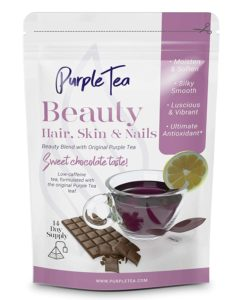 Purple Tea brand beauty tea bag for hair, skin, and nails
